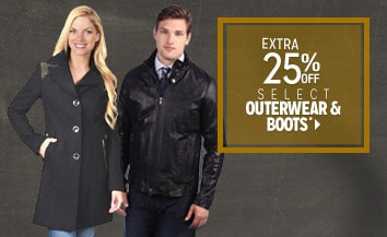 Extra 25% off Select Outerwear & Boots*