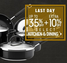Extra 10% off Select Kitchen & Dining*