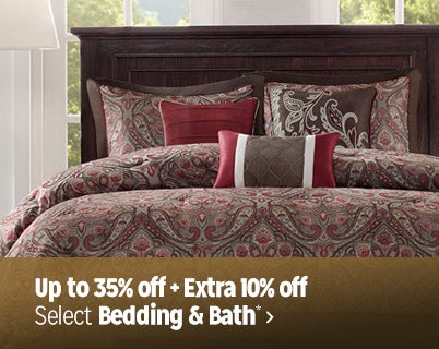 Up to 35% off + Extra 10% off select Bedding & Bath*
