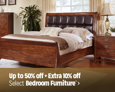 Up to 50% off + Extra 10% off select Bedroom Furniture*