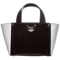 Bi-Color Leather Bucket Bag