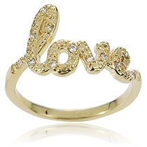 Zirconia Love Ring