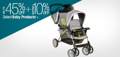 Up to 45% off + Extra 10% off Select Baby Products*