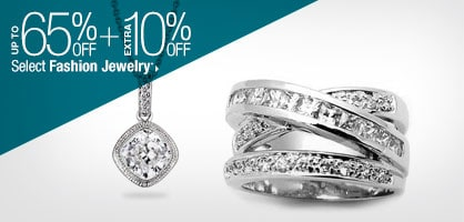 Up to 65% off + Extra 10% off Select Fashion Jewelry*