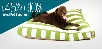 Up to 45% off + Extra 10% off Select Pet Supplies*