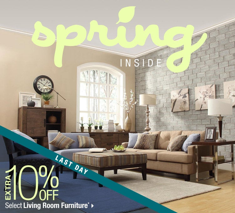 Spring Inside. Extra 10% off Select Living Room Furniture*