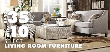 Up to 35% off + Extra 10% off Select Living Room Furniture*