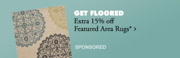 Extra 15% off Featured Area Rugs*