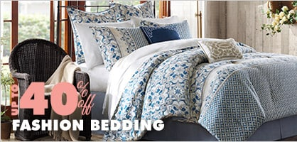Up to 40% off Fashion Bedding