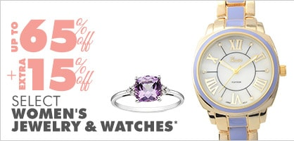 Up to 65% off + Extra 15% off Select Women's Jewelry & Watches*