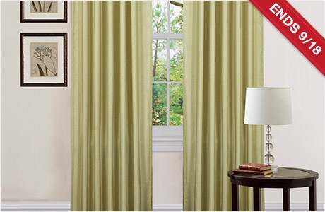 ENDS 9/18. Lush Decor Celery 84-inch Luis Curtain Panels (Set of 2)