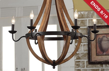 ENDS 9/18. Vineyard Oil-rubbed Bronze 6-light Chandelier