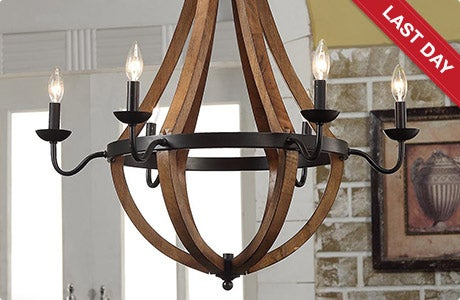 LAST DAY. Vineyard Oil-rubbed Bronze 6-light Chandelier