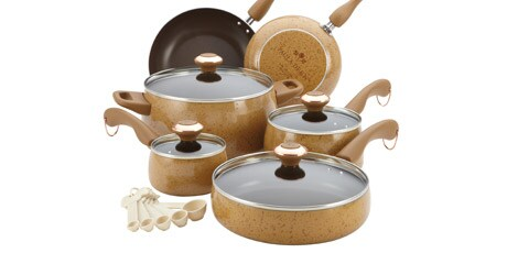 Paula Deen Honey 15-piece Signature Porcelain Cookware Set (Set of 15)