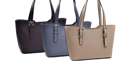 Dasein Faux Leather Structured Shoulder Bag