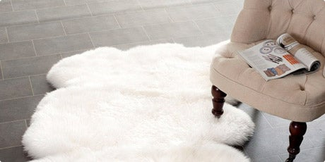 Prairie Sheepskin/ Wool White Shag Rug (3' x 5')