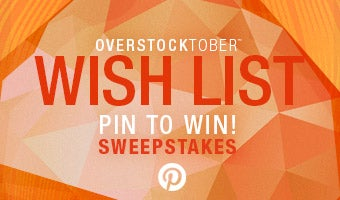 Overstocktober™ Wish List Pin to Win Sweepstakes.