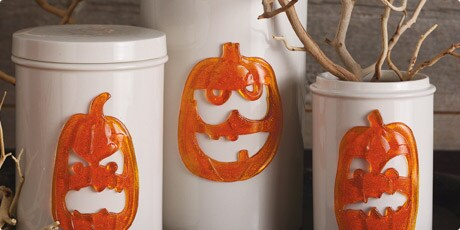 Martha Stewart 'Pumpkin Gel' Clings (Pack of 4)