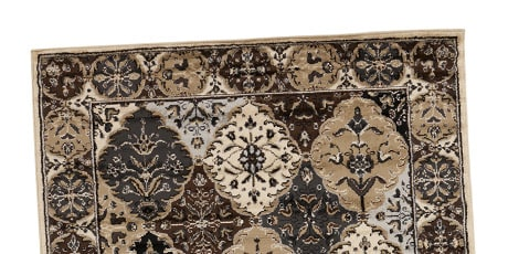 Patchwork Barley Brown Rug (7'9 x 11'2)