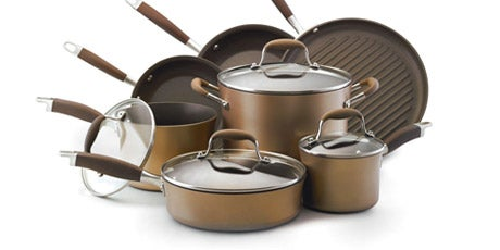 Anolon Advanced Bronze Collection Nonstick 11-piece Cookware Set