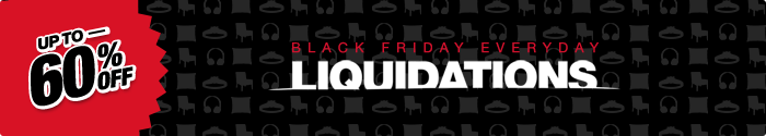 Up To 60% Off Black Friday Everyday Liquidations