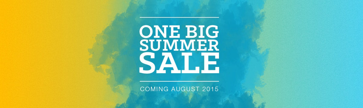 One BIG Summer Clearance Sale | Coming August 2015