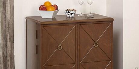 Simple Living Lexington Wine Cabinet