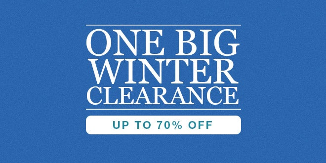 One Big Winter Clearance - Up to 70% off