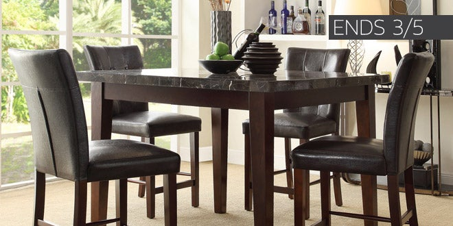 Ends 3/5 - Up to 45% off + Extra 10% off Select Dining Room Furniture*