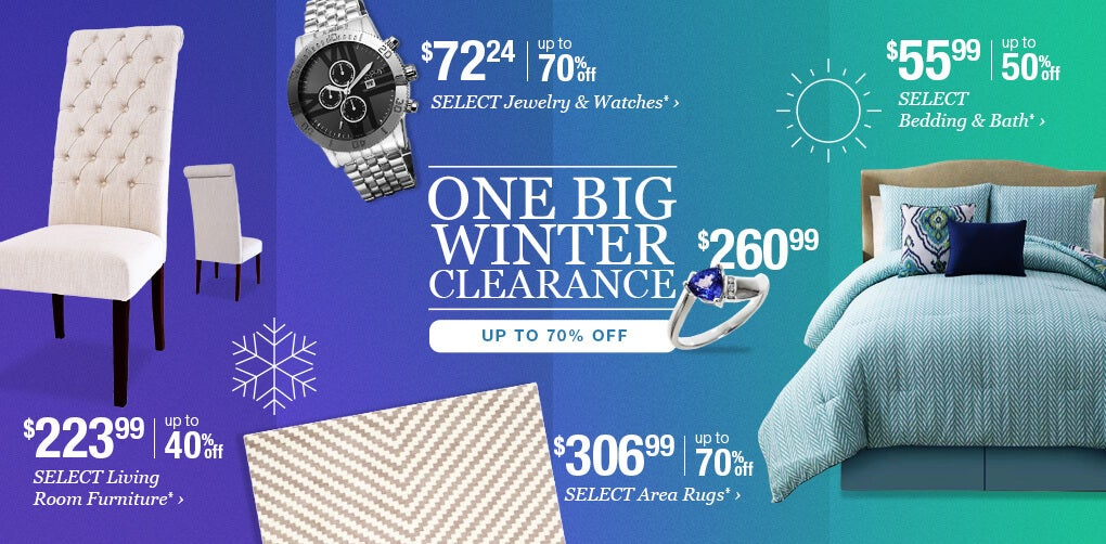 One Big Winter Clearance. Up to 70% Off.