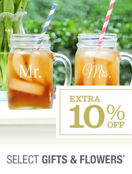Extra 10% off Select Gifts & Flowers*