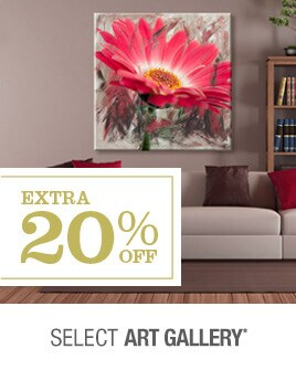 Extra 20% off Select Art Gallery*