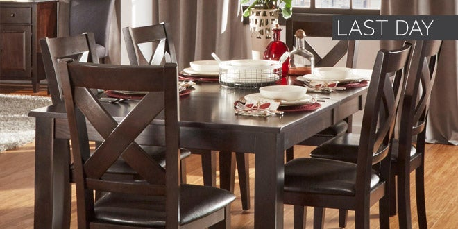 Last Day - Up to 45% off + Extra 10% off Select Dining Room Furniture*