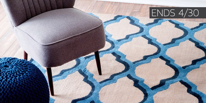 Ends 04/30 - Up to 70% off + Extra 15% off Select Area Rugs*
