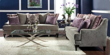 Furniture of America Visconti 2-piece Premium Fabric Sofa and Loveseat Set