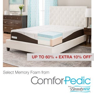 Up to 60% + Extra 10% Off* Select Memory Foam from ComforPedic® from Beautyrest™