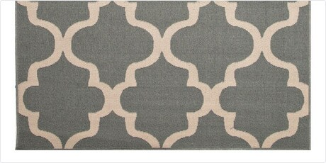 Indoor-Outdoor Geometric Pattern Blue/Ivory (7.11x10) AreaRug