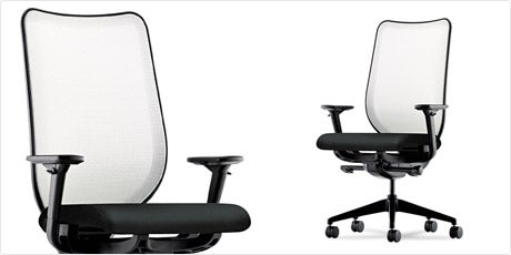 HON Nucleus Series Fog ilira-stretch M4 Back, Black Seat Work Chair