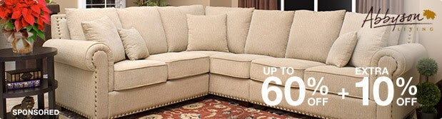 Up to 60% off + Extra 10% off Featured Furniture by Abbyson Living*