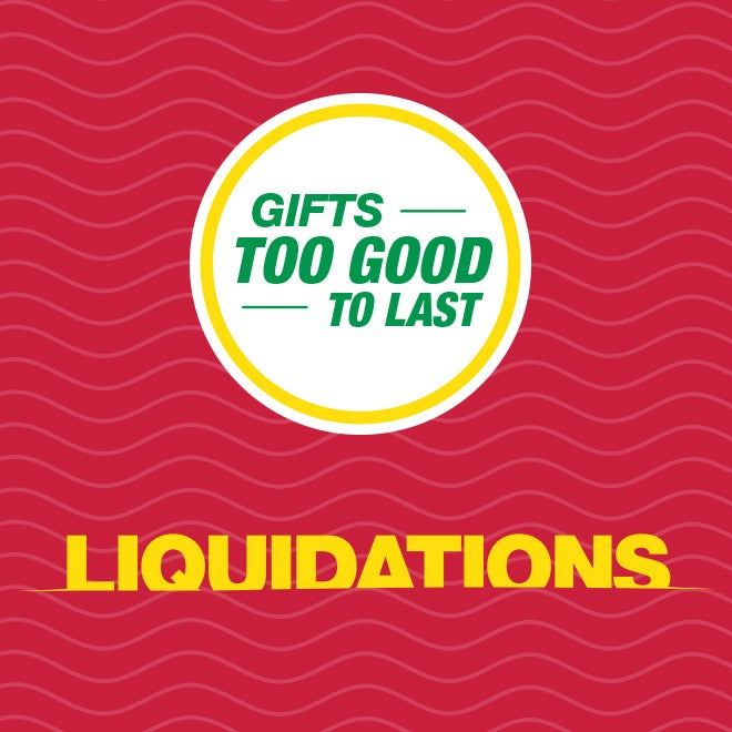 Up to 75% off Liquidations