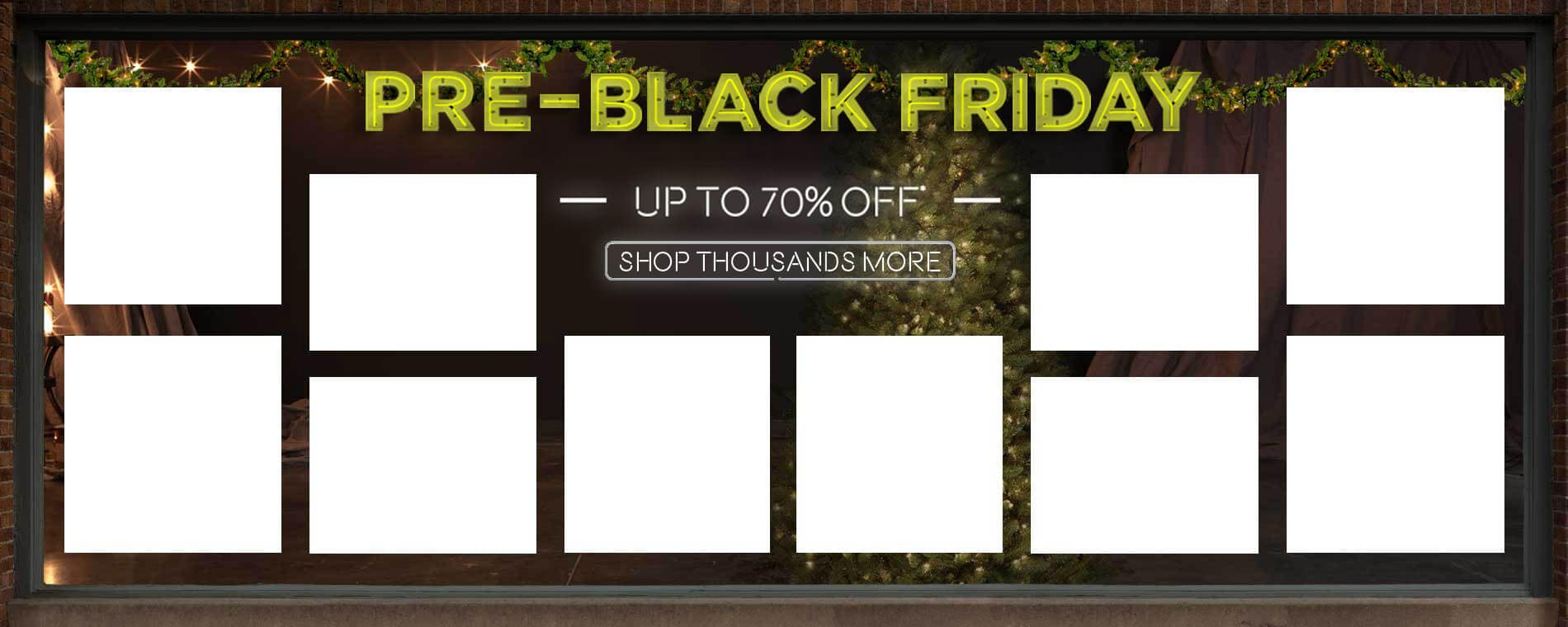 Pre-Black Friday. Up to 70% Off.