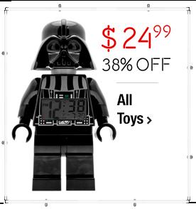 Lego Darth Vader Clock $24.99 > 38% off > All Toys