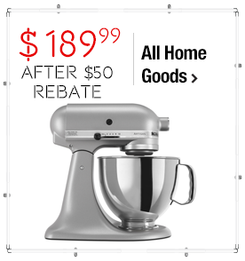 KitchenAid KSM150PSSM Silver Metallic 5-quart Artisan Tilt-Head Stand Mixer **with Rebate** $239.99 > 31% Savings