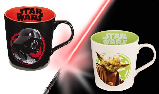 Darth Vader and Yoda Mugs