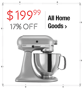 KitchenAid RRK150SM Silver Metallic 5-quart Artisan Tilt-Head Stand Mixer (Refurbished) $199.99 > 16% OFF