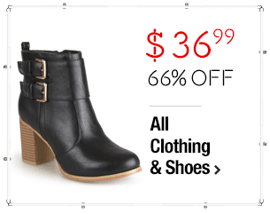 Journee Collection Women's 'Port' Heeled Buckle Bootie $36.99 > 66% Off