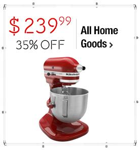 KitchenAid KSM500Q2ER Empire Red 5-quart Pro 500 Bowl-Lift Stand Mixer $239.99 > 35% OFF