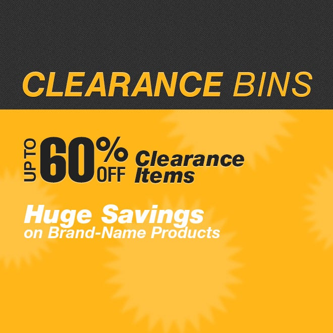 Clearance Bins View All
