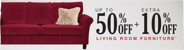 Up to 50% off + Extra 10% off Living Room Furniture