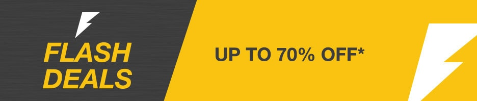 Flash Deals. Up to 70% Off*